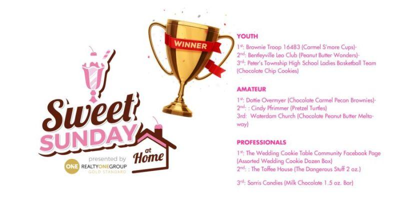 2021 Sweet Sunday vendor winners