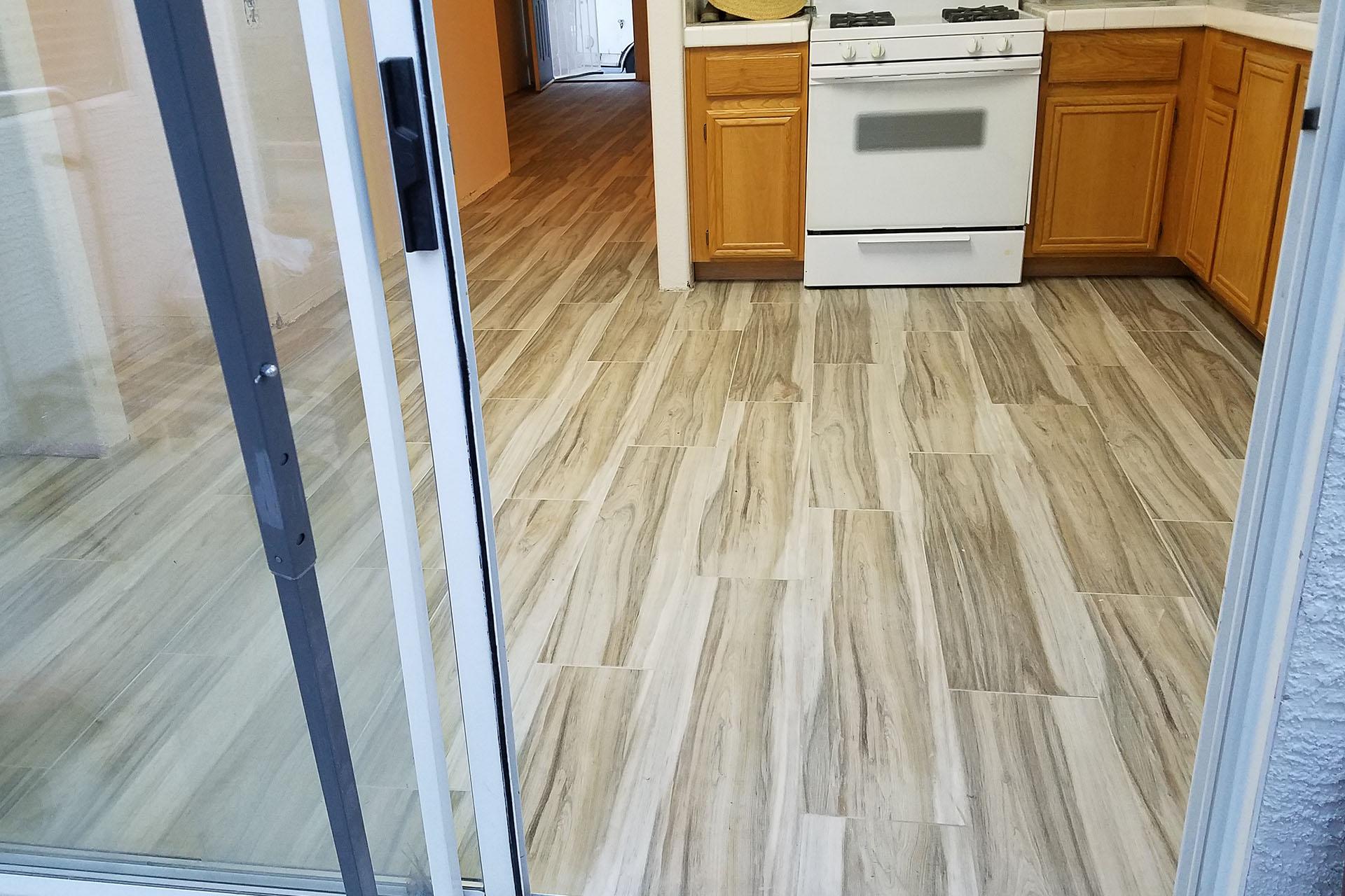 View Wood Grain Tile Installation