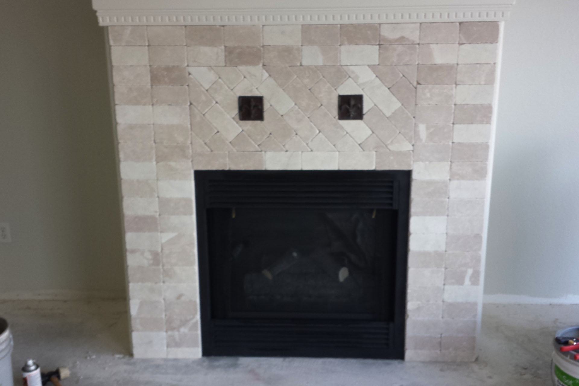View Fireplace Tile Installation