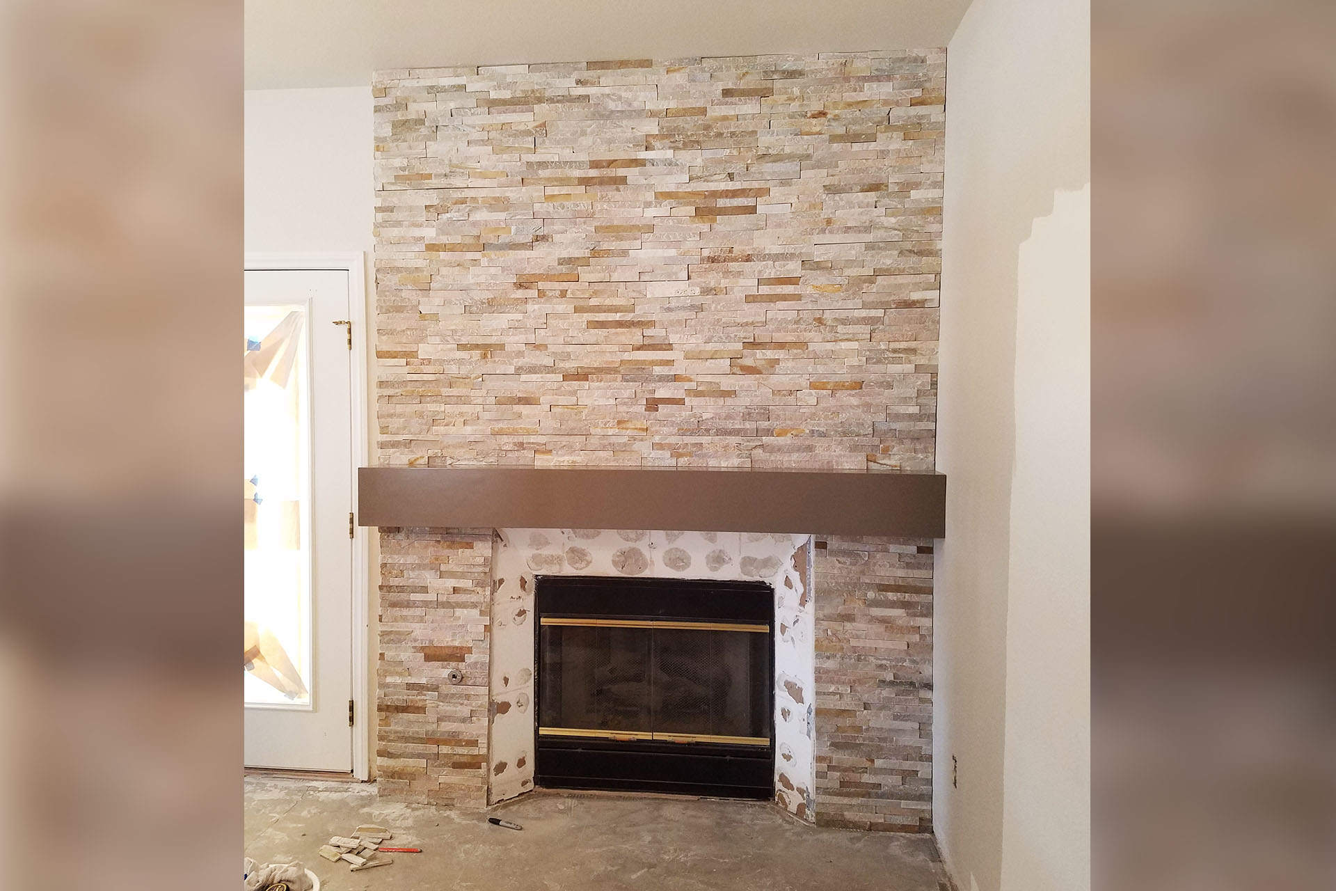 View Fireplace Stone Veneer Project
