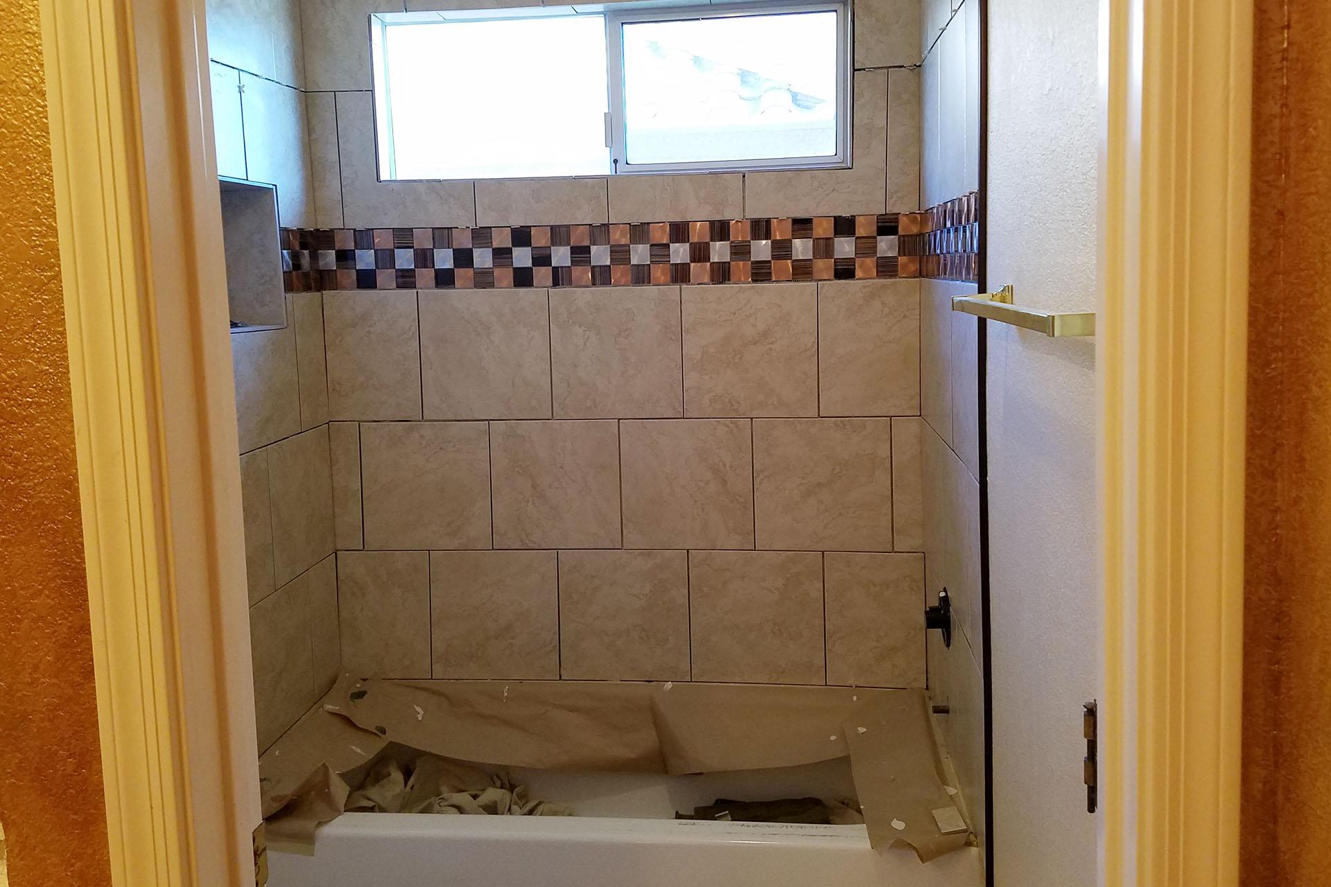 View Tub Surround Tile Installation