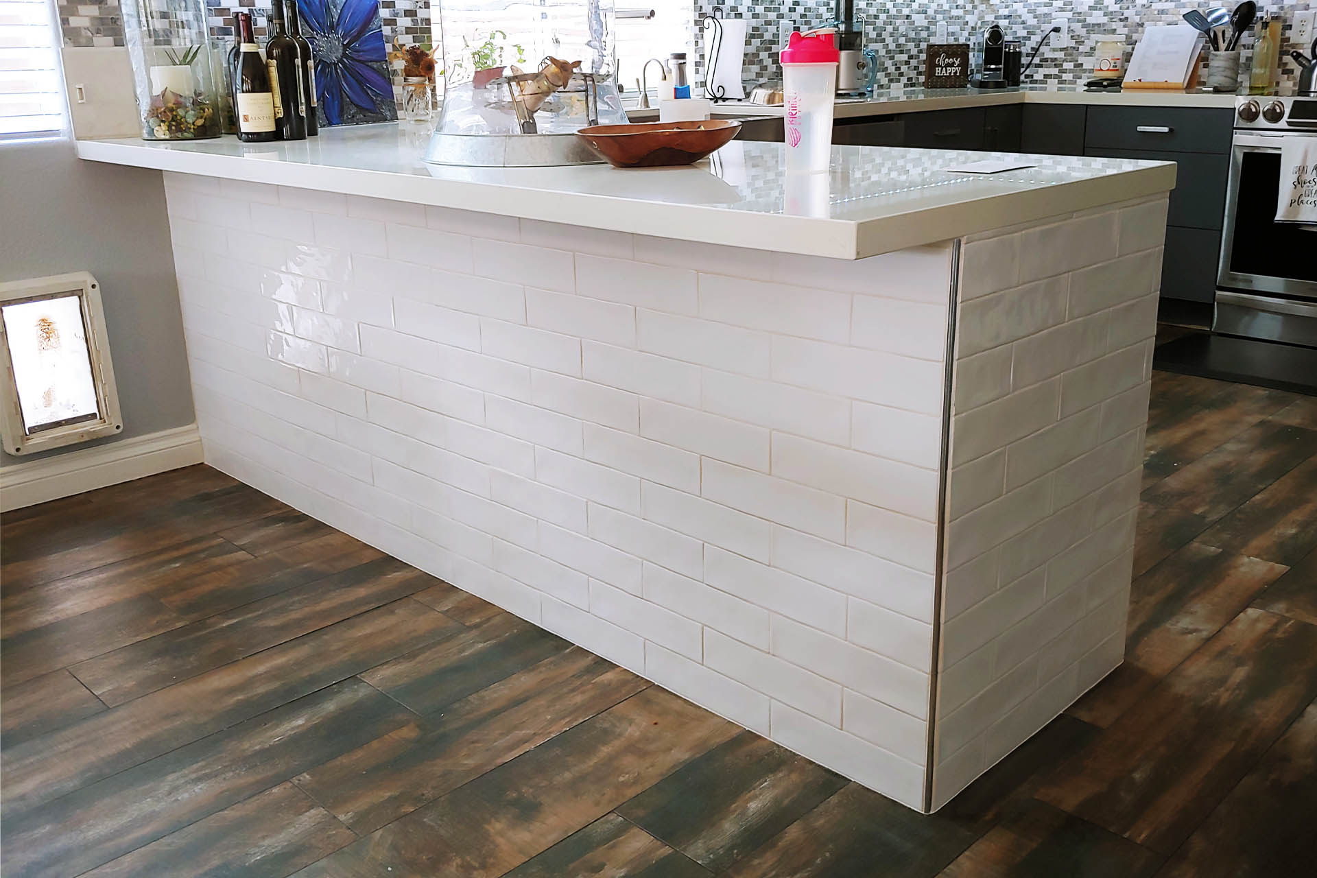 View Kitchen Counter Backsplash Installation
