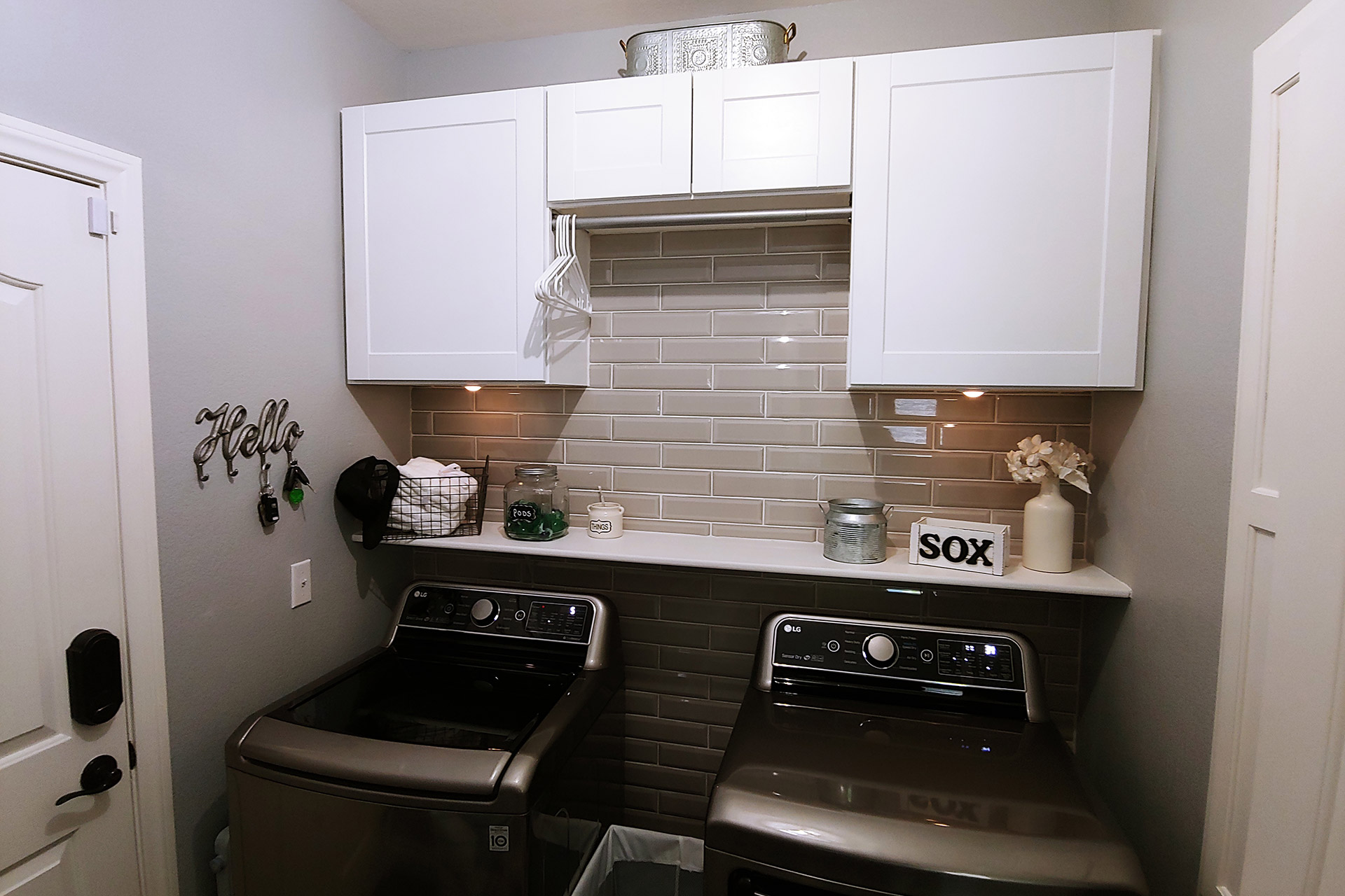View Laundry Room Backsplash Installation