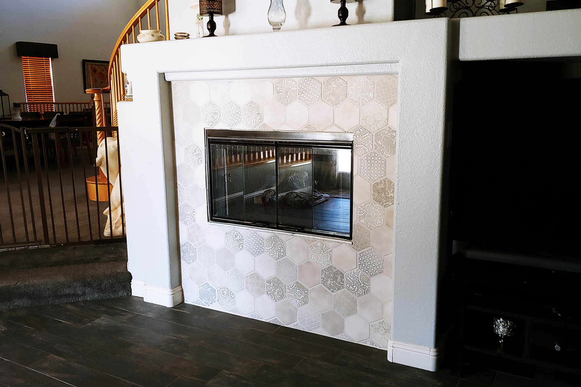 View Fireplace Decorative Tile Install
