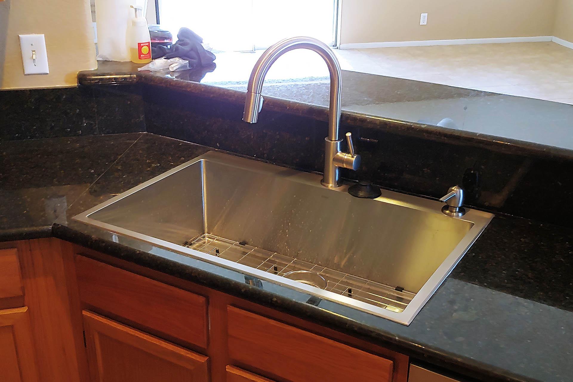 View Stainless Steel Sink Installation