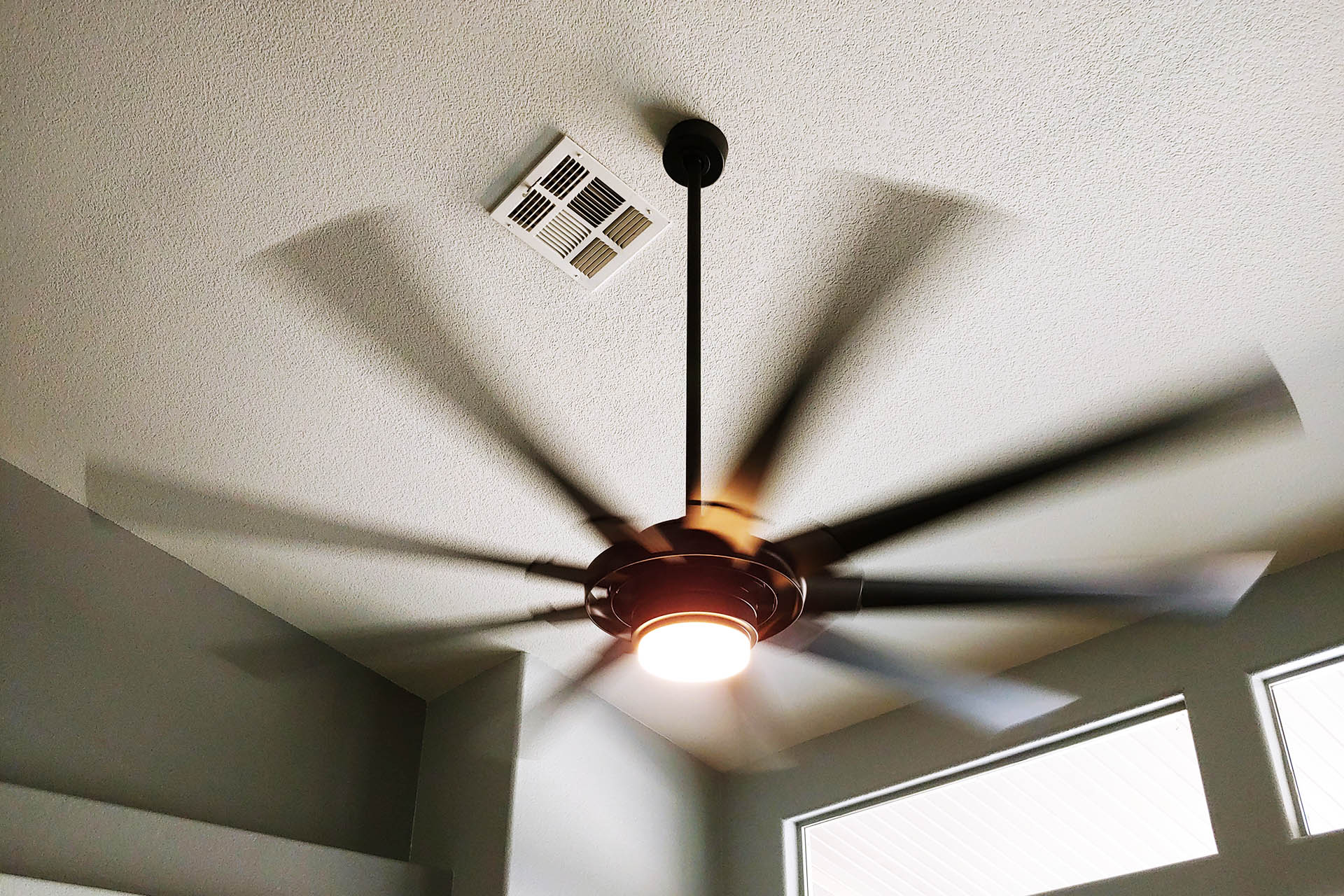 View Hanging Ceiling Fan Installation
