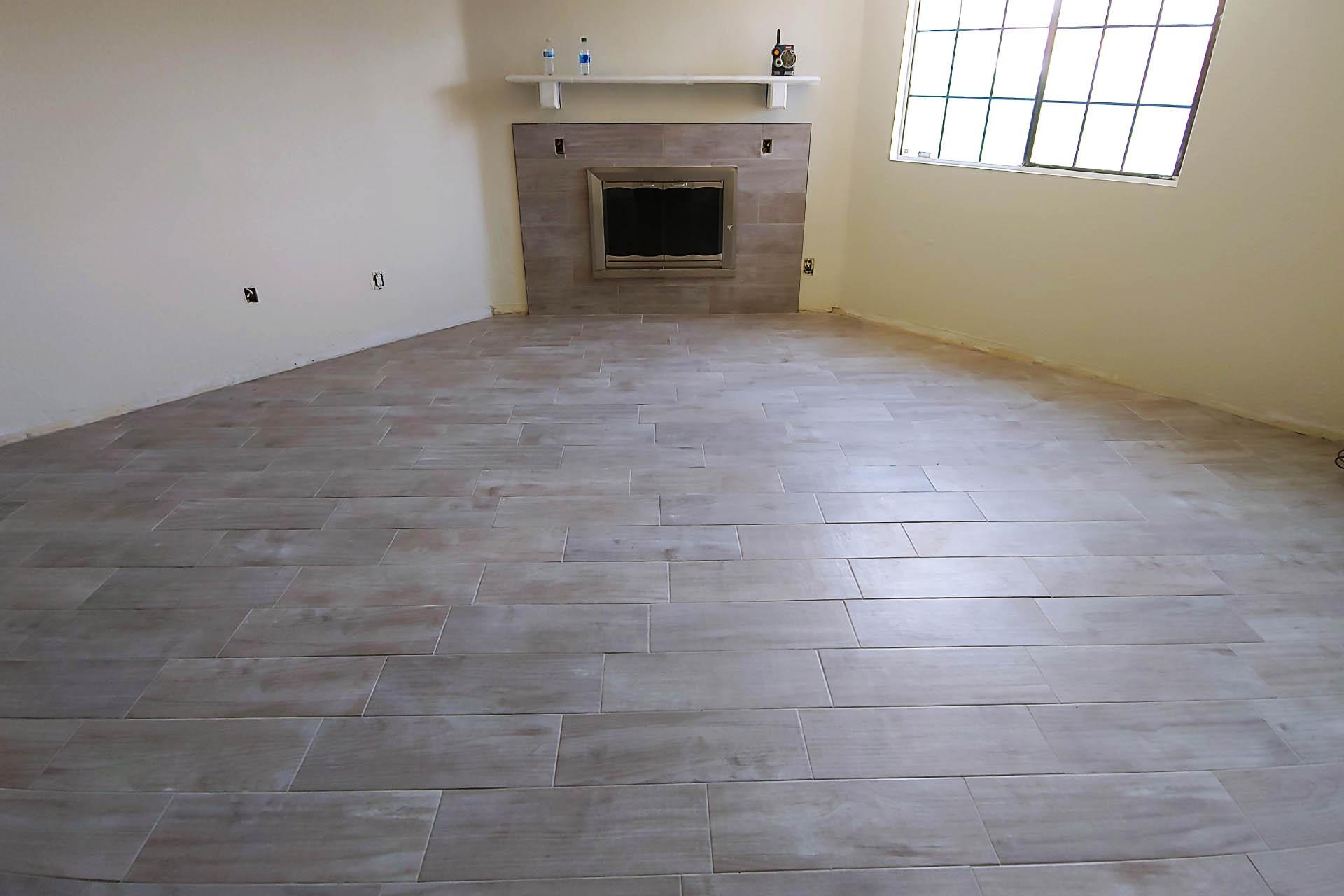 View Master Bedroom Tile Installation