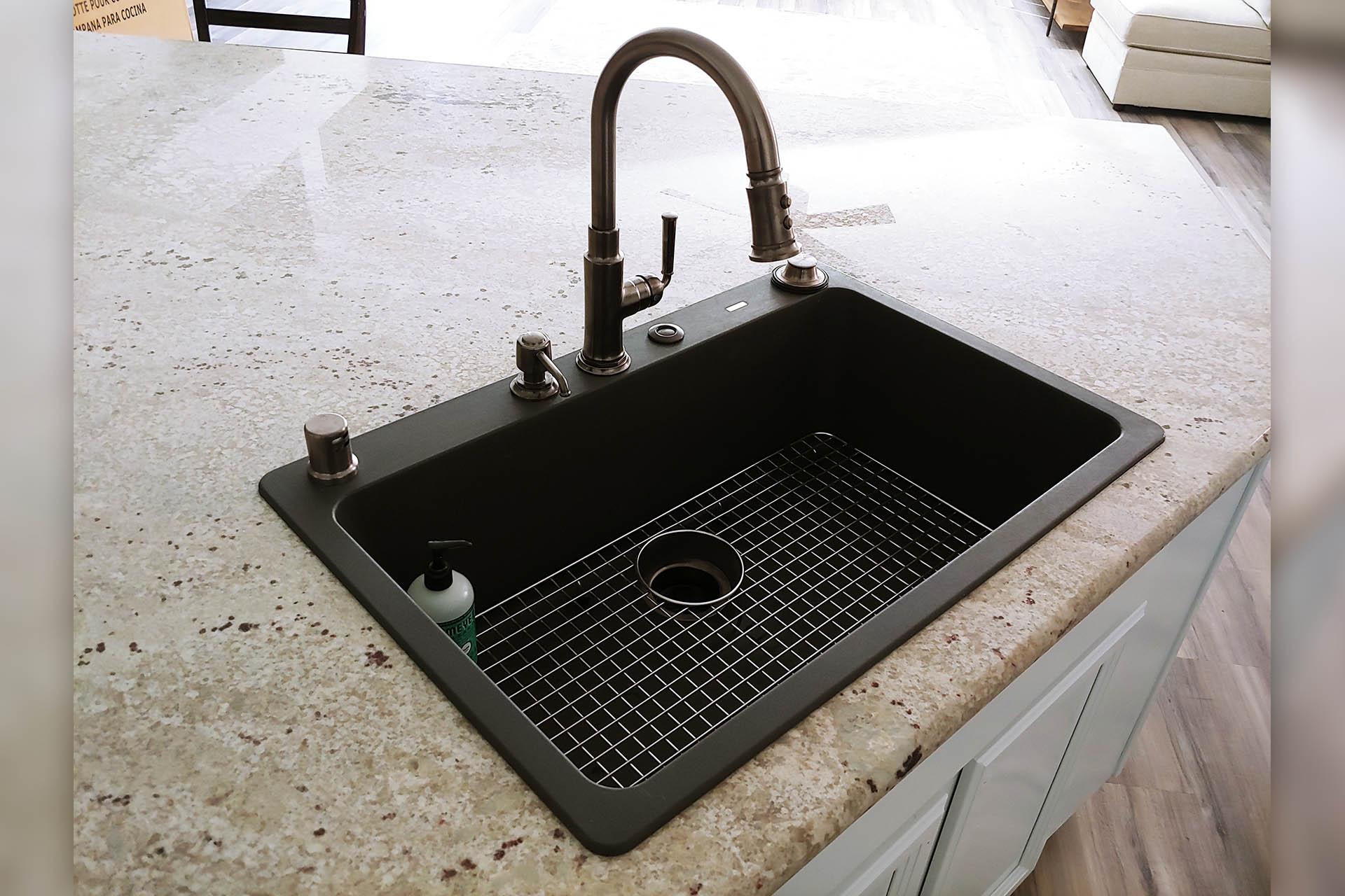 View Black Sink Installation