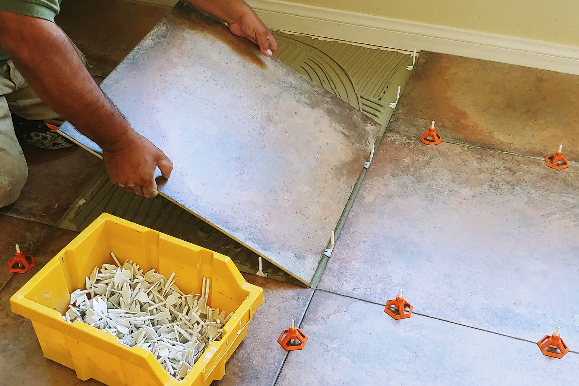 View Carpet Removal and Large Tile Installation