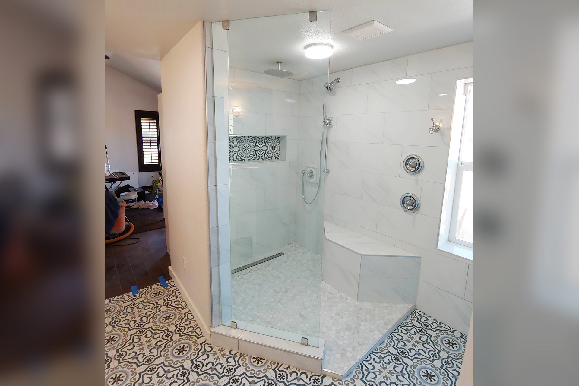 View Shower Renovation with Glass