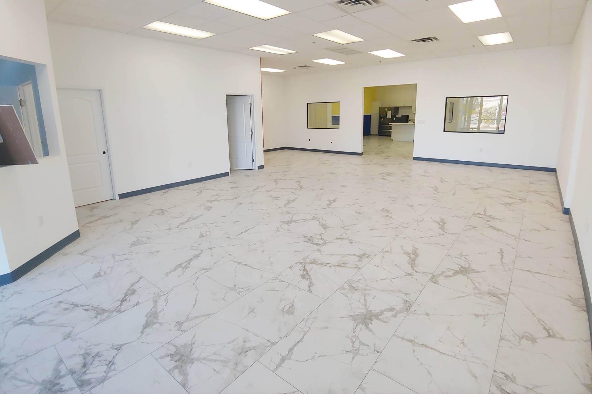 View White 2x4 Tile Installation
