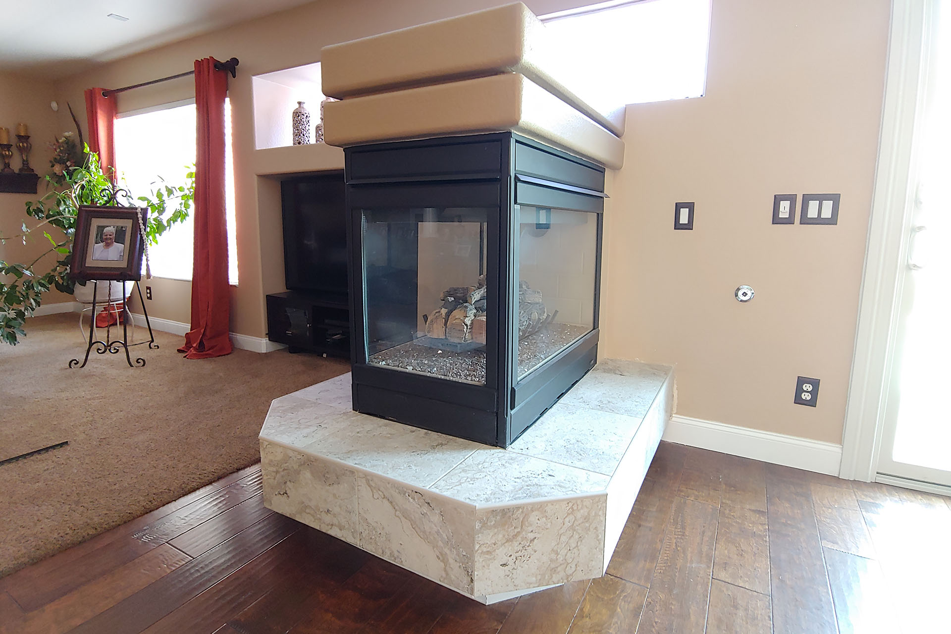 View Fireplace Tile Replacement