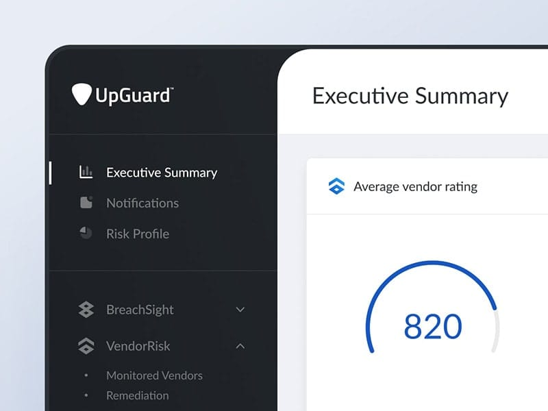 Sidebar nav interactions for UpGuard