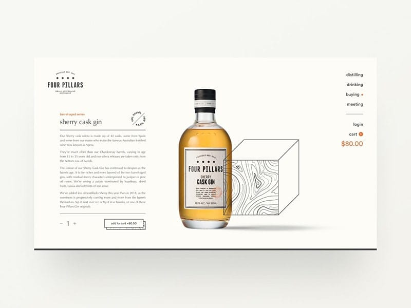 Gin distillery website exploration — part 04