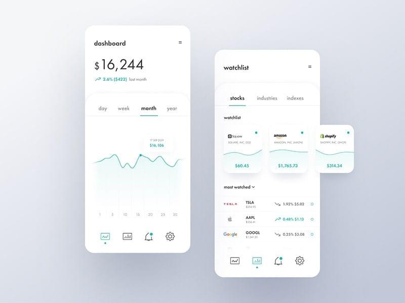 Simple.io investing app concept