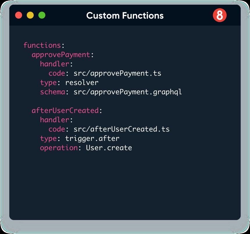 graphql resolvers, triggers, rest webhooks and schedule tasks