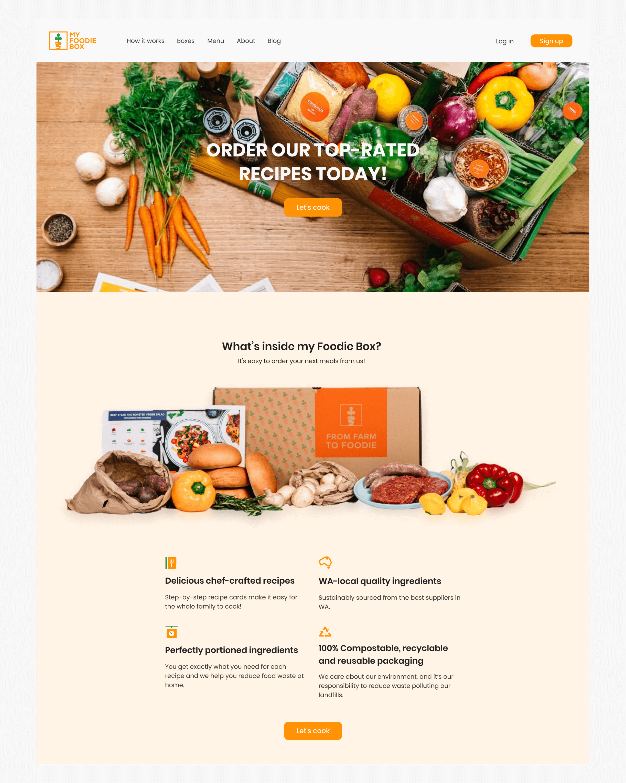 Desktop visual design, My Foodie Box