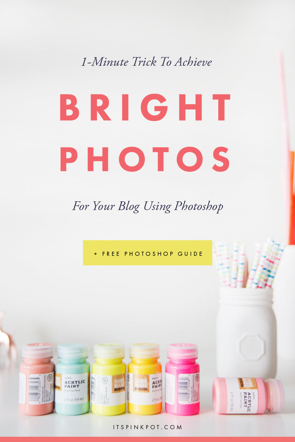 Brighten your photos using photoshop in under 1 minute with this super easy and quick tutorial + Download a FREE Photoshop Cheatsheet to speed up your workflow!