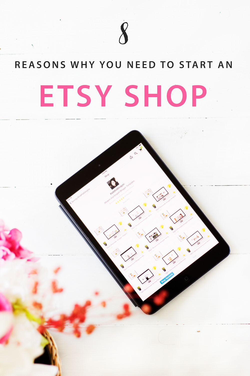 Benefits and Uses of starting an etsy shop for your business, learn why etsy may be an amazing starting point for your business! Start an etsy shop today!