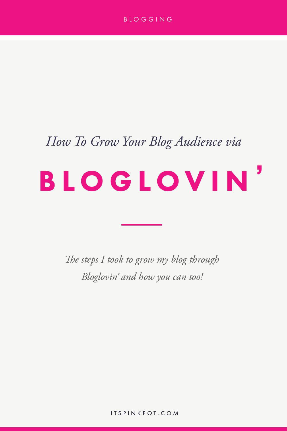 When I started blogging, one of the first ways people started finding my blog was via Bloglovin'. In fact, until a few months ago my top traffic referral was Bloglovin'( (recently Pinterest has become my hero!). If you are a new blogger or if you are yet to see results from bloglovin', here are my tips to get you going on the platform!