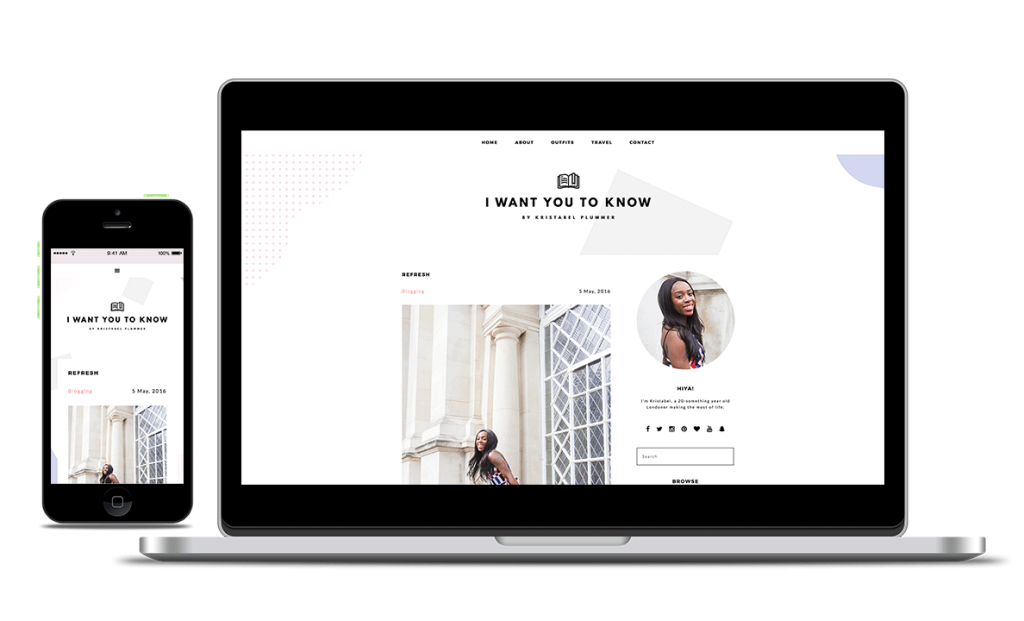 Changing logo on every page refresh? So fun! Read all about my web development project for I want you to know - Kristabel Plummer by PinkPot Design STudio!