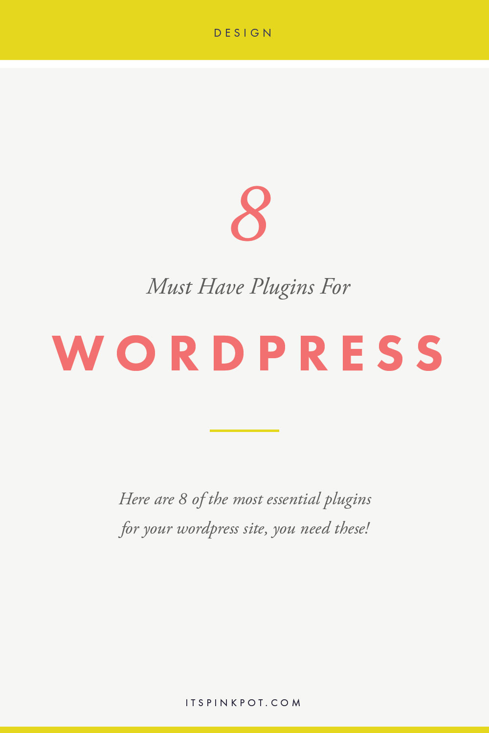 Have you got a new Wordpress site? Here are 8 must have plugins to improve your site! Click here to read more and install them now!