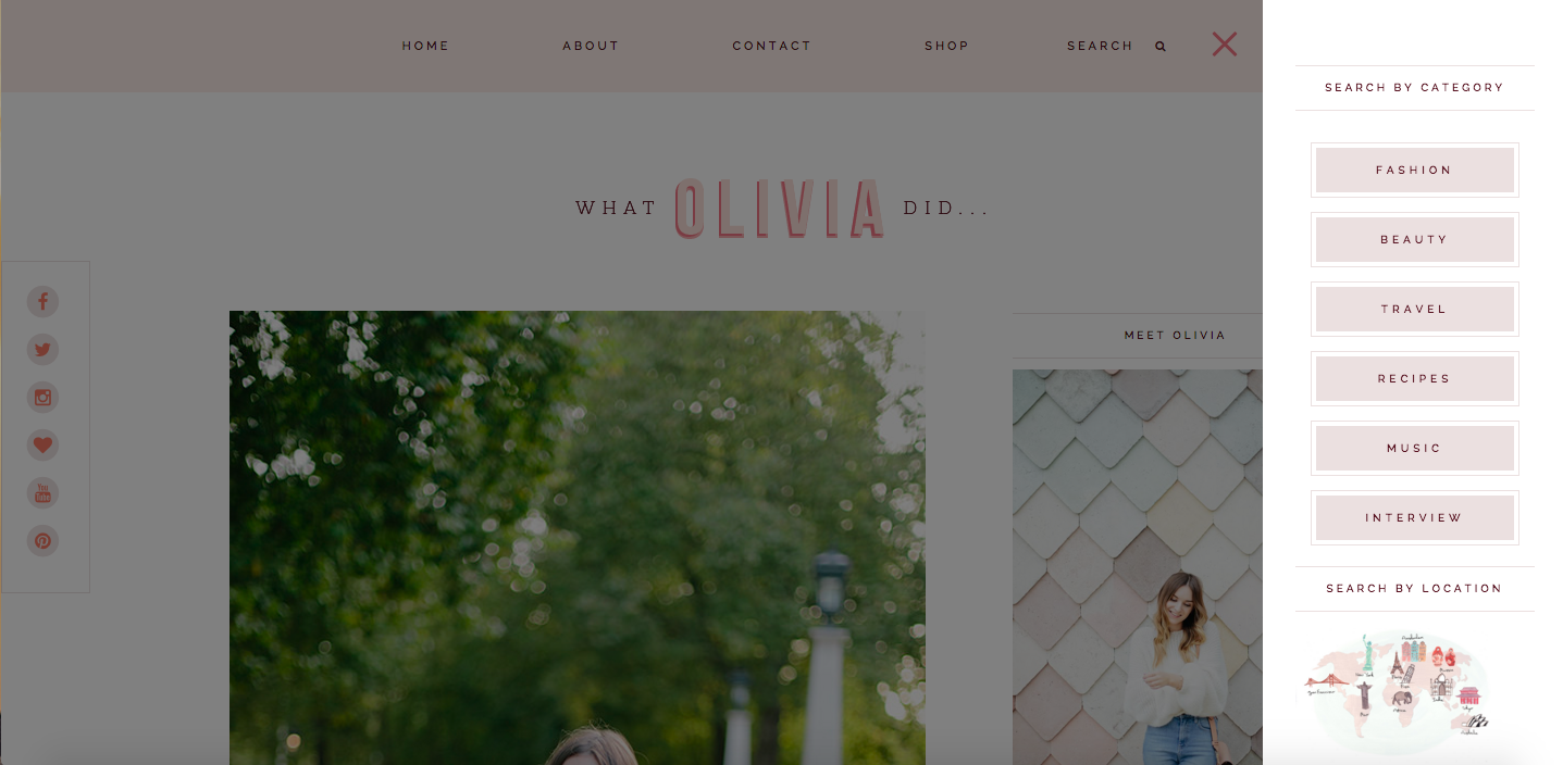 Do you know there is a lot of scope for development on the blogger.com platform too? Here is an example with the web development for What Olivia Did by PinkPot Design STudio!