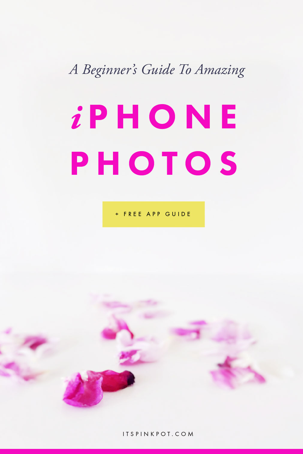 Did you know you can take high quality stock photos for your blog using your iPhone? Here's a beginner's guide to shooting amazing, high quality photos using your iPhone camera. Plus I have a FREE guide with the best apps and equipment for iPhone photography. Click here to download now