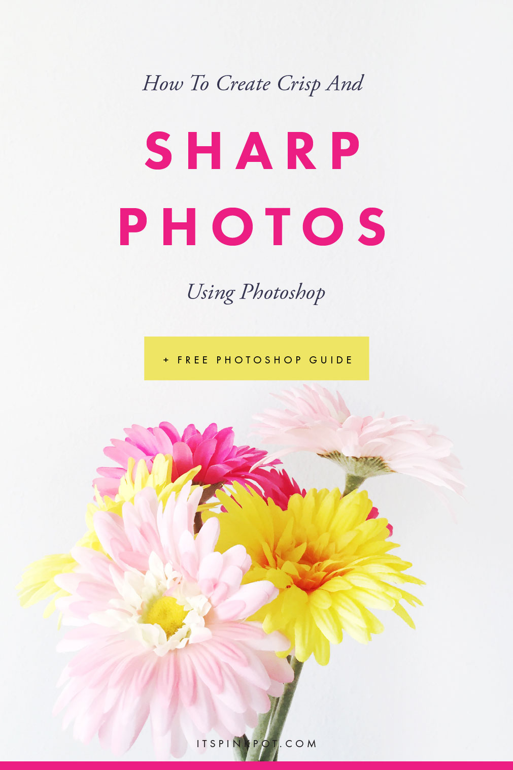 It takes less than a minute to make your photos crisp and clear using photoshop! Here is the complete tutorial in 3 easy steps. + A free photoshop cheatsheet too >>