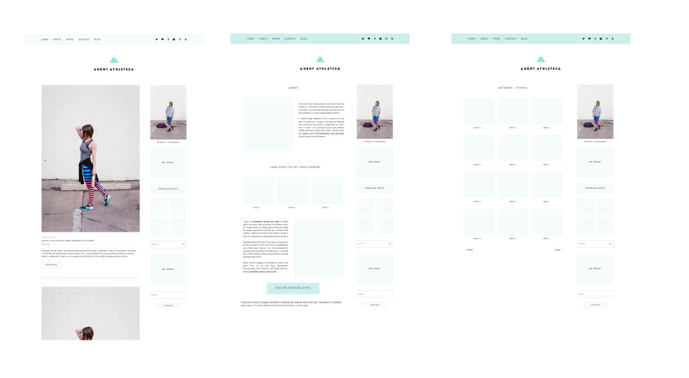 My branding and web design process for Agent Athletica - Suzanne by PinkPot Design Studio!