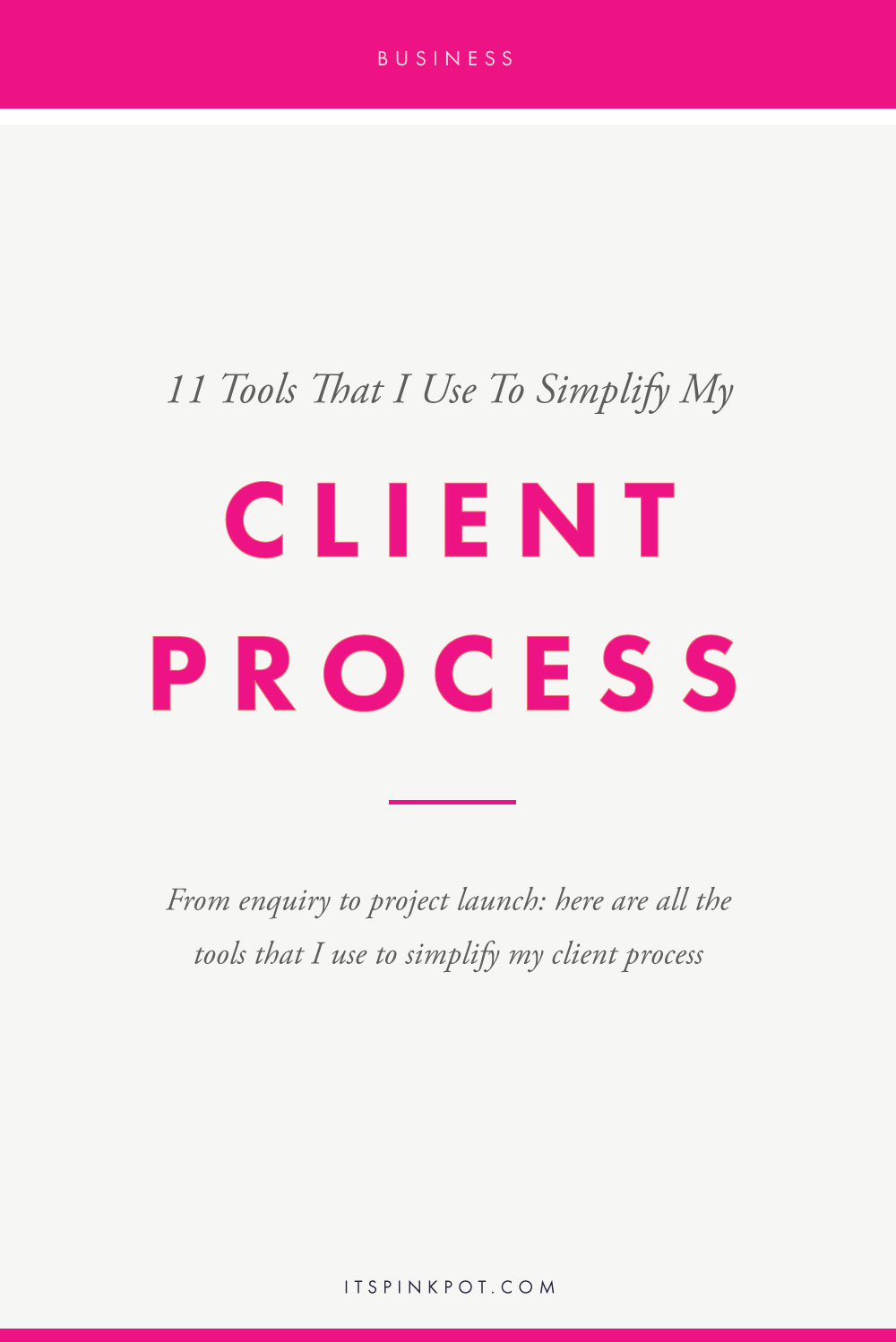 I definitely love a peek into the workflows of my fellow designers. There is always a tool or a tip that I pick up from reading about how they efficiently manage their client projects. Over the past two years of running my studio full-time, a lot of tools have come and gone out of my toolkit - but there are a few that have stuck around and are here to stay. Click here to learn about some game-changing tools for your client process>>