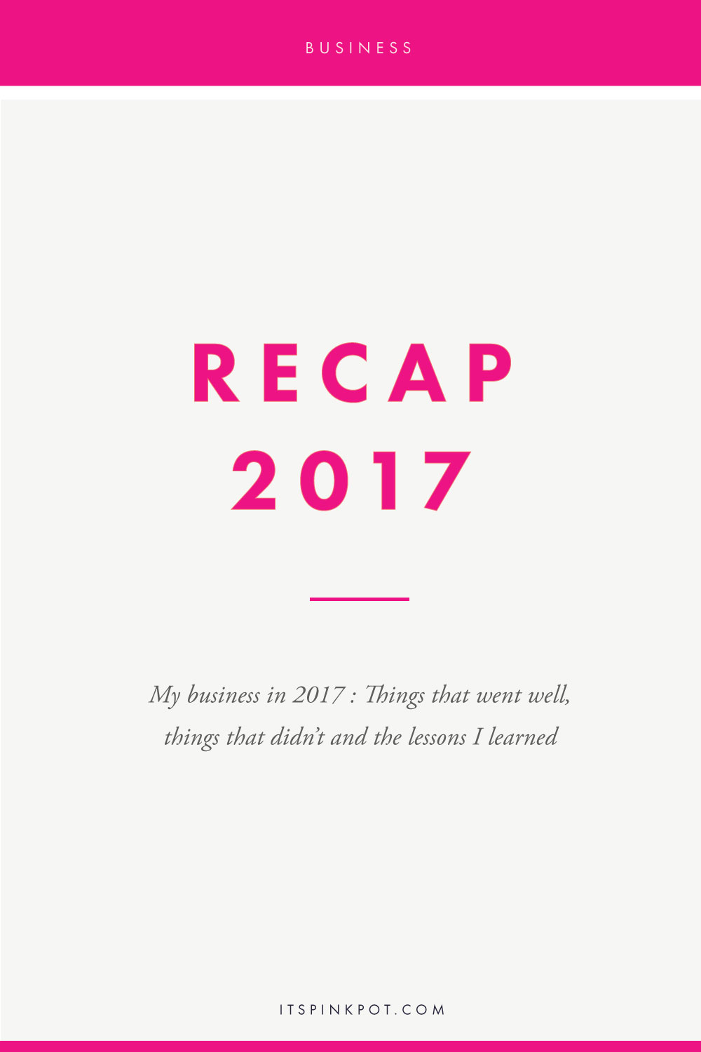 At the end of 2016, I was feeling burnt out. All year, there was nothing I could think about except my business and so I decided to cut down on work and live my life in 2017. And so I did. And contrary to what I believed would happen - my income doubled, I expanded my team, I had amazing business opportunities and more than anything, I better business owner. Here are the things I did and lessons I learnt in 2017 >> click here to read!