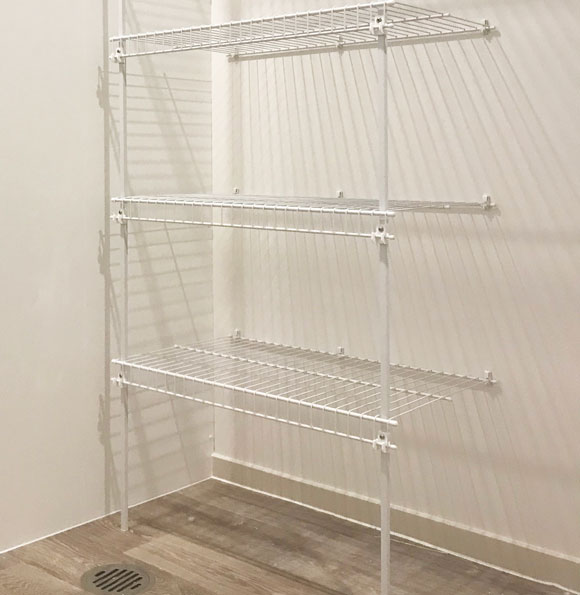 Ventilated wire shelving