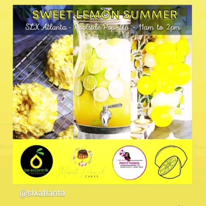 We are so excited to have @beeccentriklemonade @mamitapoundcakes and @perfectly_pretty_picnics at @slxatlanta today in #clubpure for the fantastic #sweetlemonsummer pop-up event!  Come to Club Pure now and sample some delicious lemon cake and lemonade! ...