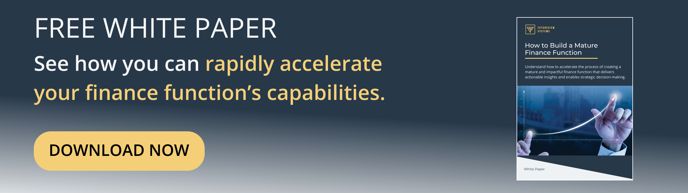 Learn how to accelerate the maturity of your finance function.