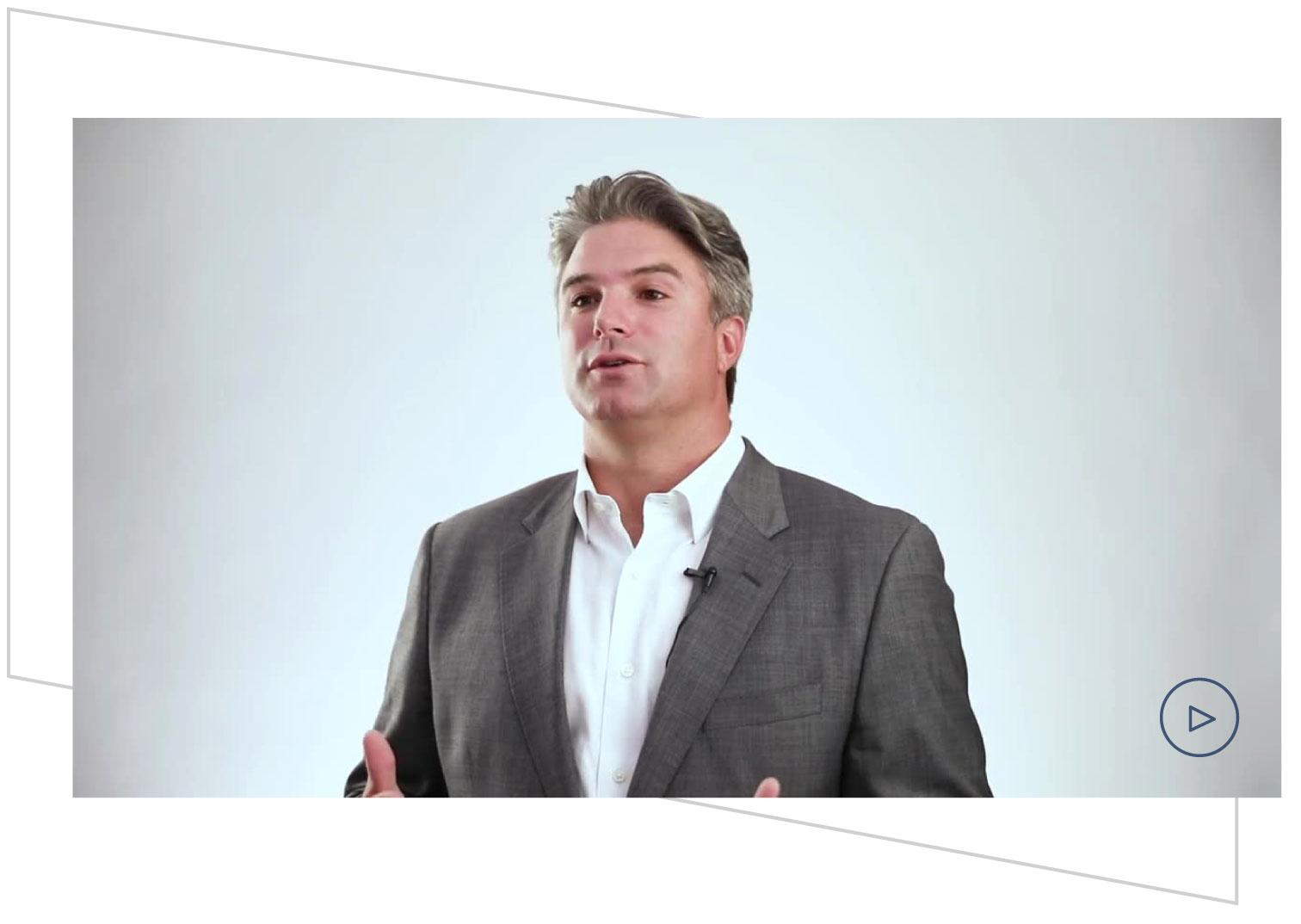 Still frame from video of Dylan McCrory speaking