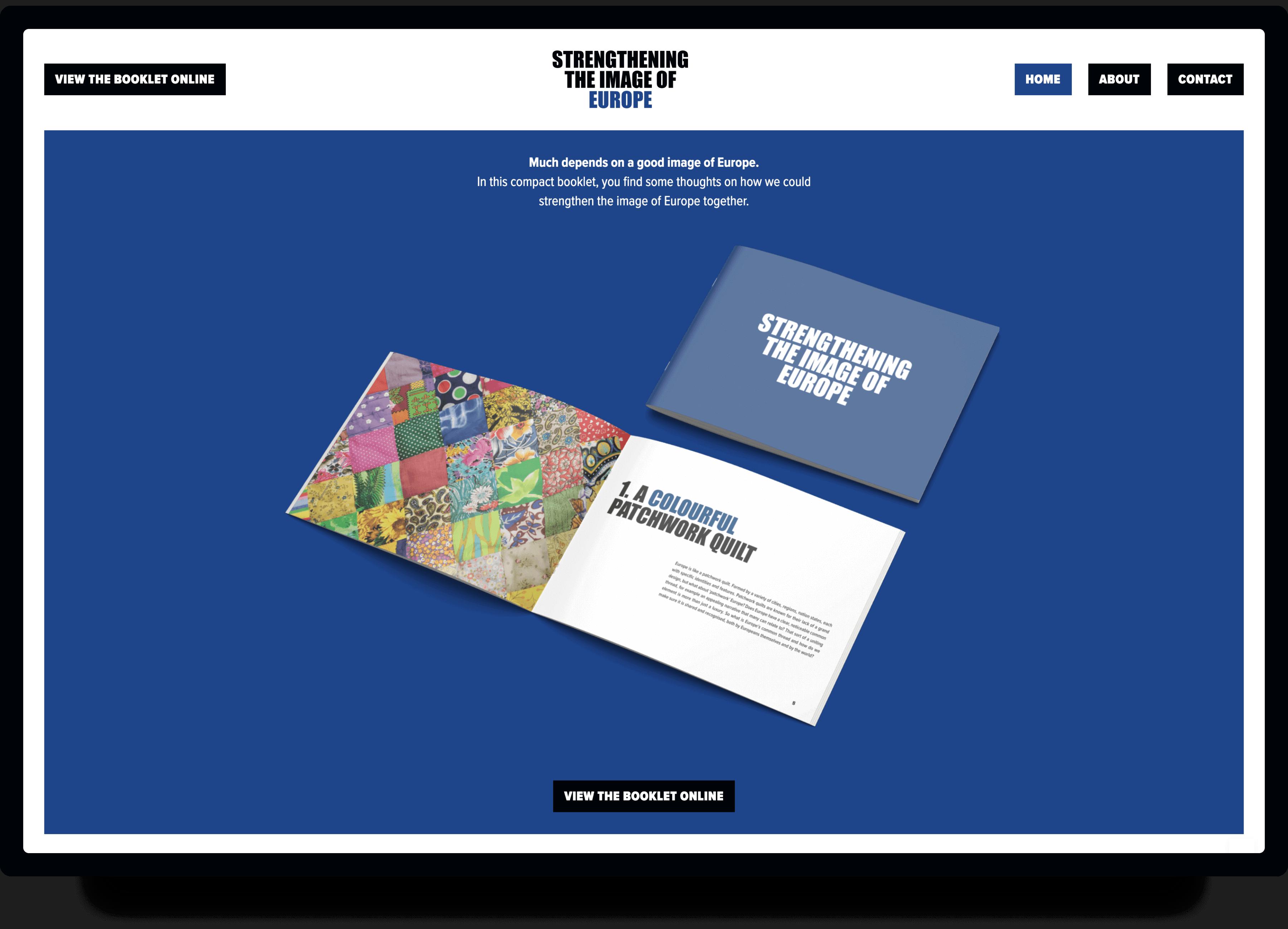 Screenshot van de homepage Image of Europe   Studio Flabbergasted