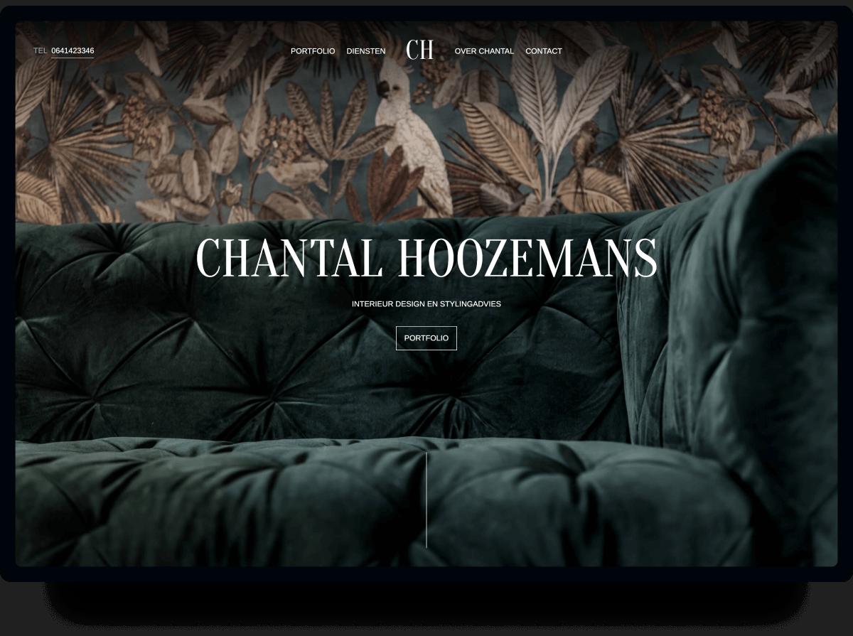 Studio Flabbergasted Portfolio - Screenshot Homepage Desktop Chantal Hoozemans