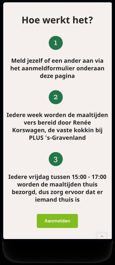 Mobiele weergave van de actiepagina voor PLUS 's-Gravenland & voetbalvereniging CKC | Studio Flabbergasted