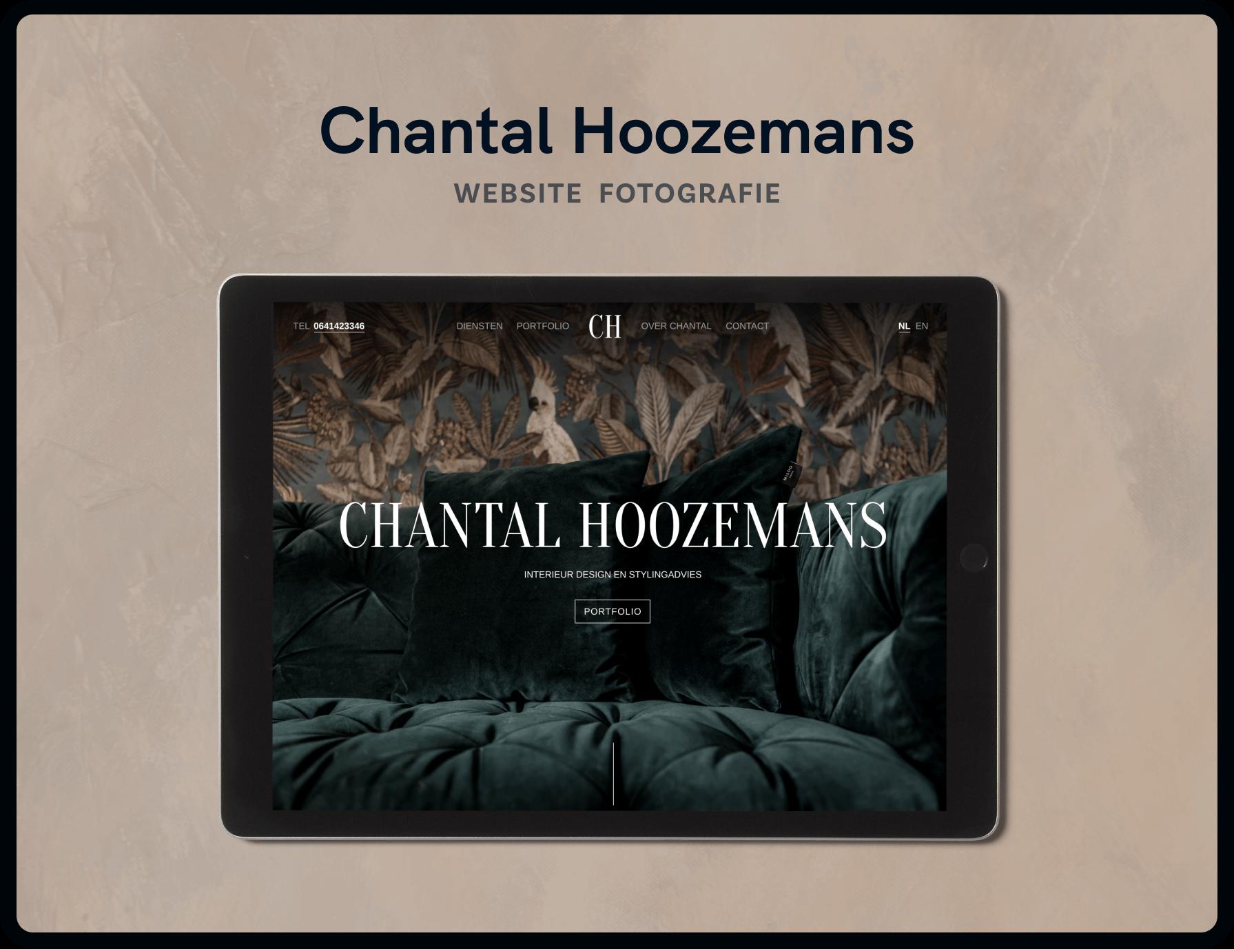 Screenshot van homepage Chantal Hoozemans | Studio Flabbergasted