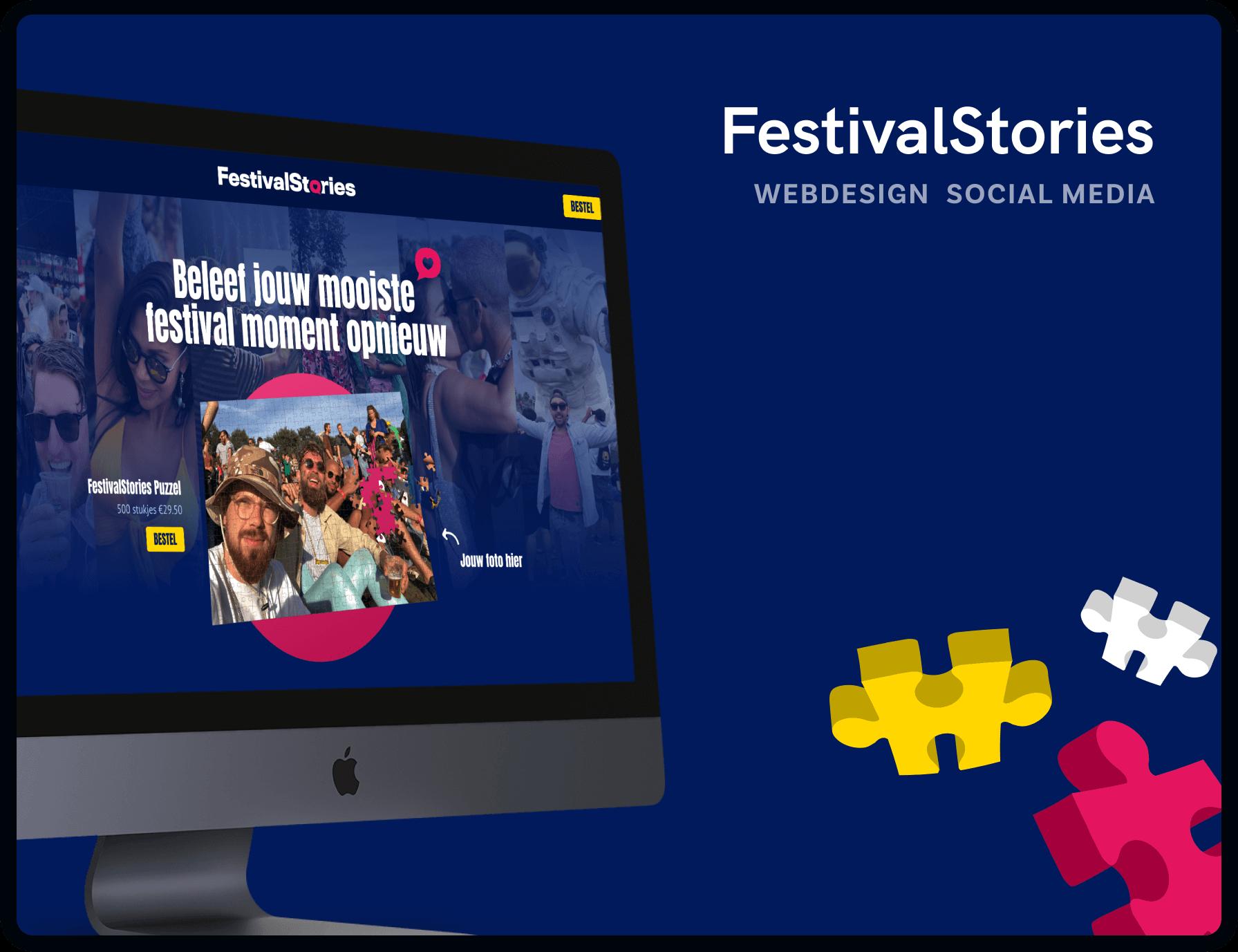 Webdesign voor FestivalStories gemaakt door Studio Flabbergasted
