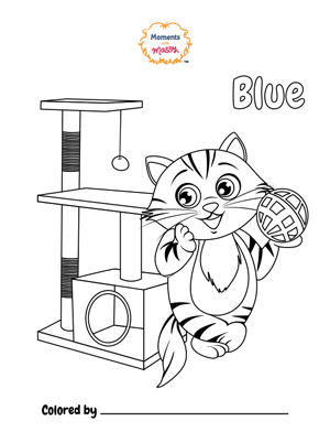 """Coloring Page """"Blue"""" - Moments With Massy"""