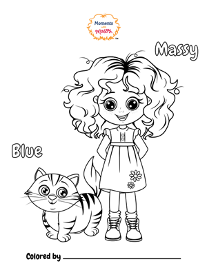 """Coloring Page """"Massy"""" - Moments With Massy"""