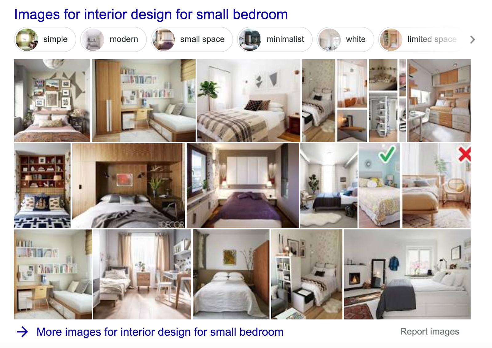 image pack in the interior design for small bedroom SERP