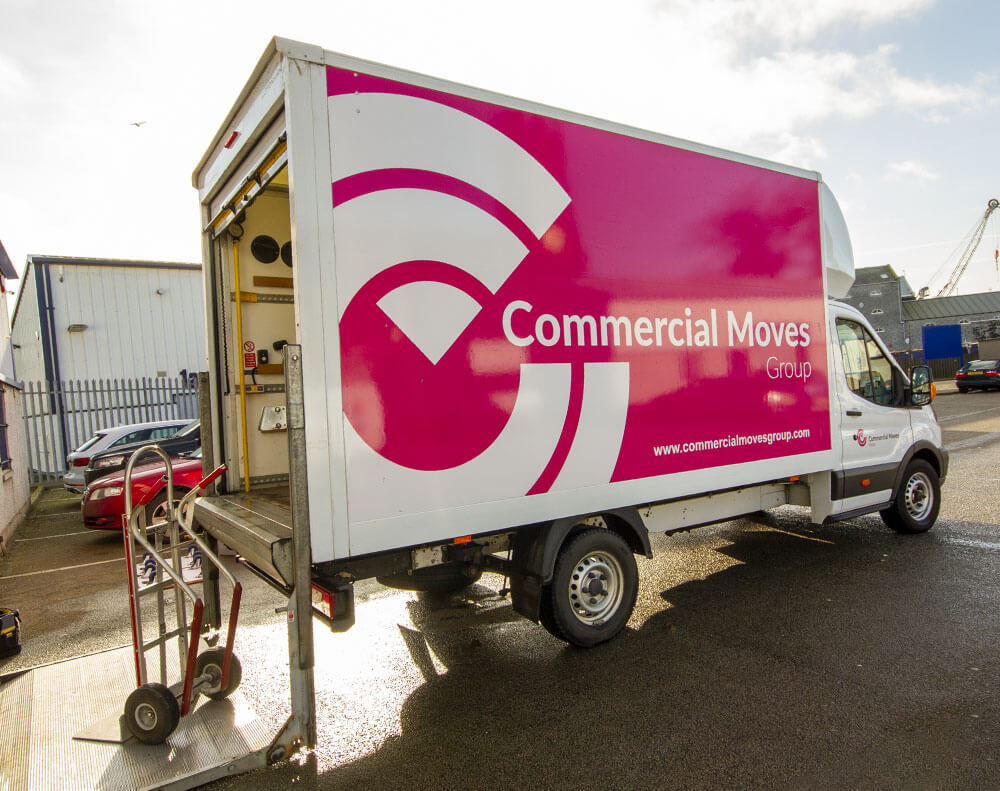 loading commercial moves van