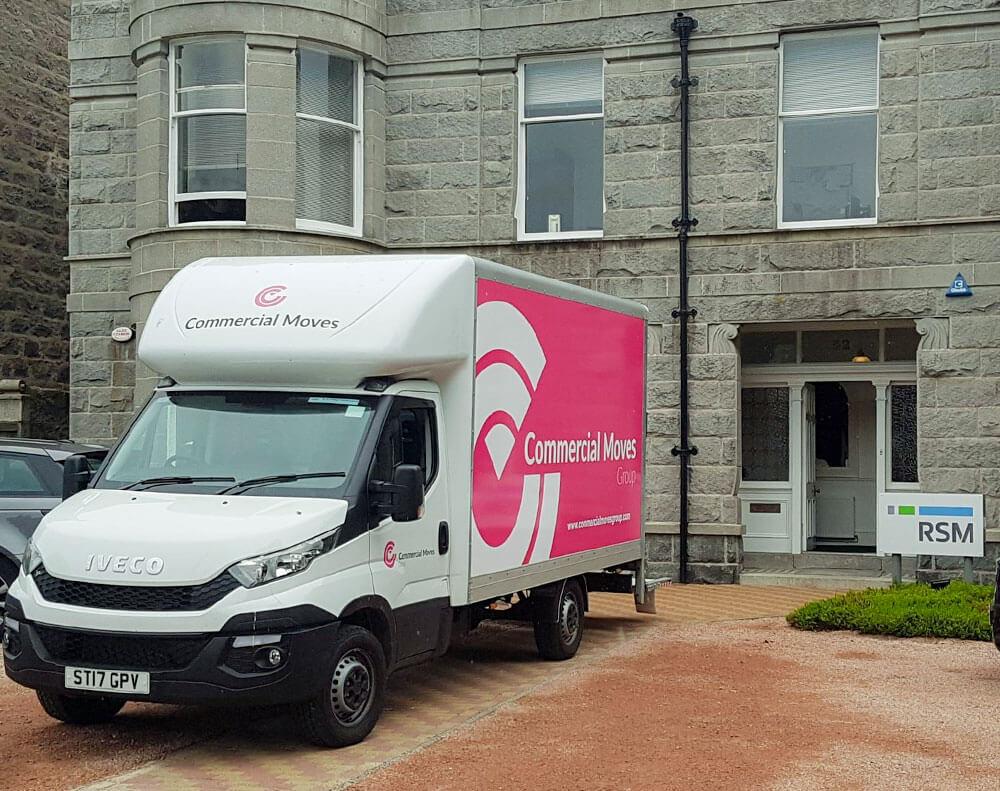 commercial moves van