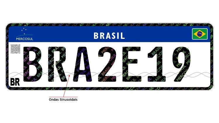 placa mercosul Brasil