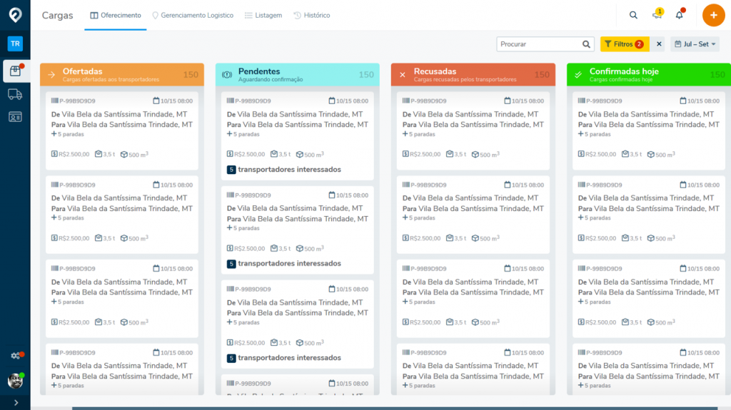 Fretefy Plataforma Online