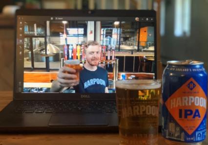 Cicerone Led Beer Tasting on laptop