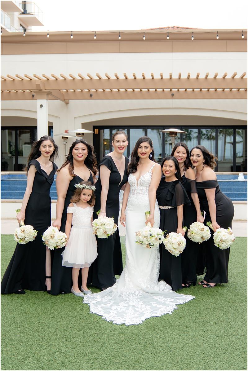 black bridesmaids dresses huntington beach